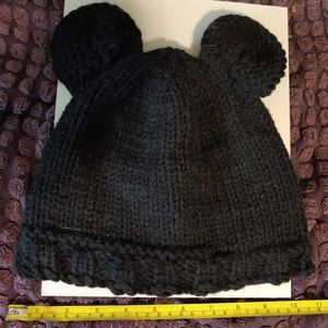 "Fleece lined ""Mickey"" ear knit beanie"